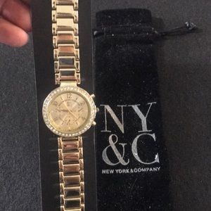 New York an company gold tone watch